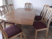 DINING TABLE (EXTENSION) & 6 CHAIRS