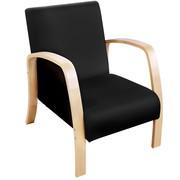 Birch Plywood Fabric Sofa Arm Chair Black