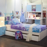 SGA Furniture's kid's bunk beds with desk are what you're looking for.