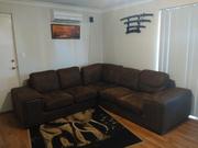 L shape light Brown corner couch