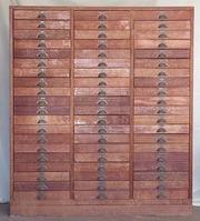 Filing cabinet,  wooden vintage