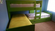 Stylish and Comfortable Triple Bunk Bed for Kids